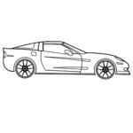 Easy Chevrolet Corvette Coloring Page
