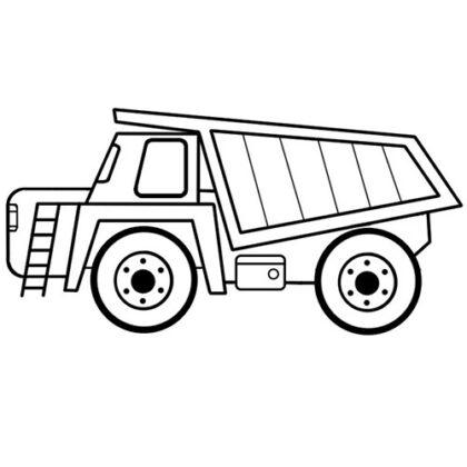 Easy Dump Truck Coloring Bookz