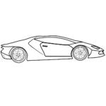 Easy Lamborghini Coloring Page