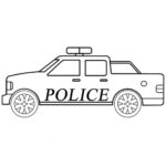 Easy Police Car Coloring Page