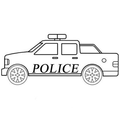 Easy Police Car Coloring Bookz