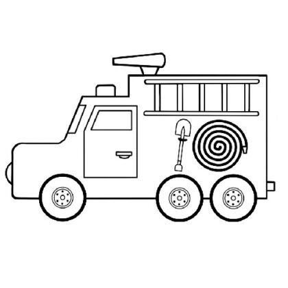 Easy Rescue Vehicle Coloring Bookz