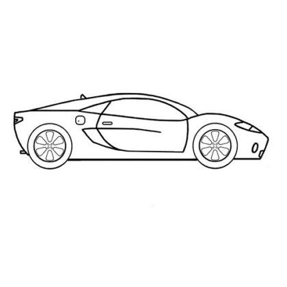 Easy Sports Car McLaren Coloring Bookz