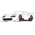 Sport Car Coloring Page