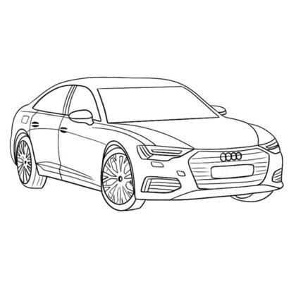 Audi A6 Coloring Book
