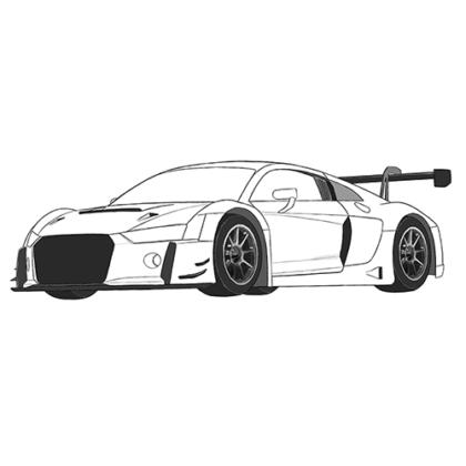 Audi R8 Coloring Book