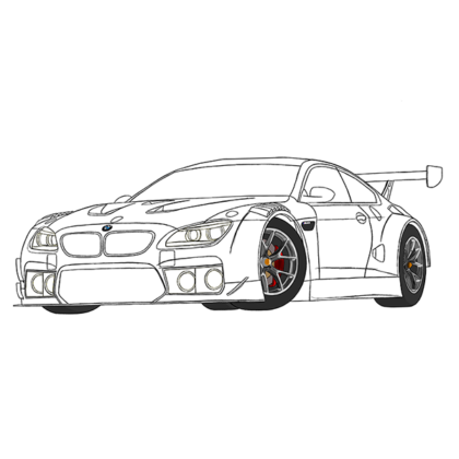 BMW M6 GT3 Coloring Book