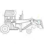Bulldozer Coloring Page