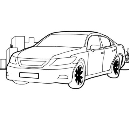Business car coloring page