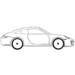 Easy Porsche 911 Coloring Page