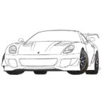 Ferrari 599 Coloring Page