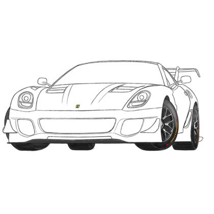 Ferrari 599 Coloring Book