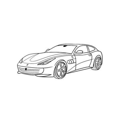 Ferrari Coloring Book