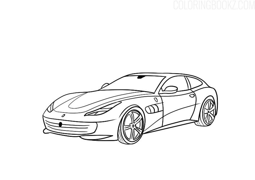 Ferrari Coloring Page Gtc4lusso Coloring Books