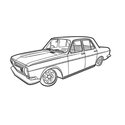 GAZ volga russian car coloring page