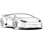 Lamborghini Coloring Page – Lamborghini Line Art