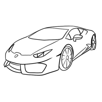 Lamborghini Huracan Coloring Book - Lines Art