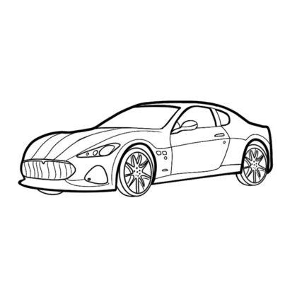 Maserati GranTurismo Coloring Book