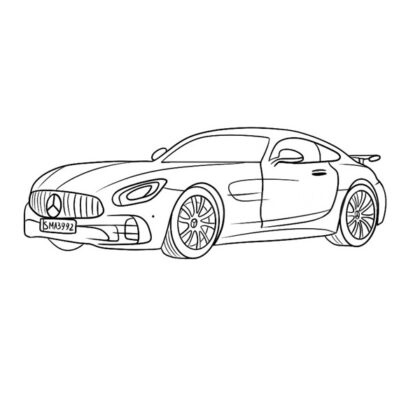 Mercedes-AMG GT Coloring Book