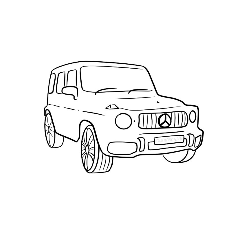 Mercedes-Benz G-Class Coloring Page