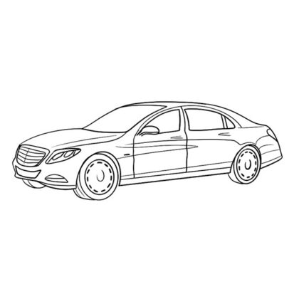 Mercedes Maybach Coloring Book