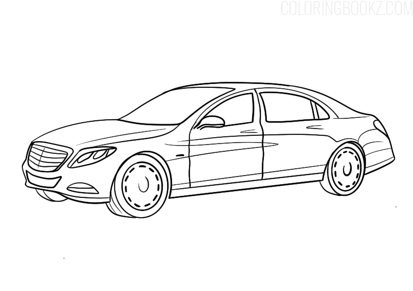 Mercedes Maybach Coloring Page