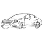 Mercedes S-Class Coloring Page – Mercedes s63 AMG