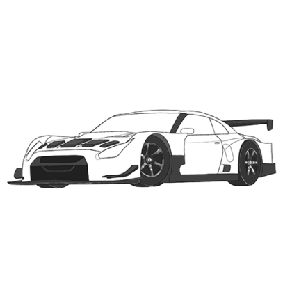 Nissan GTR R35 Coloring Book