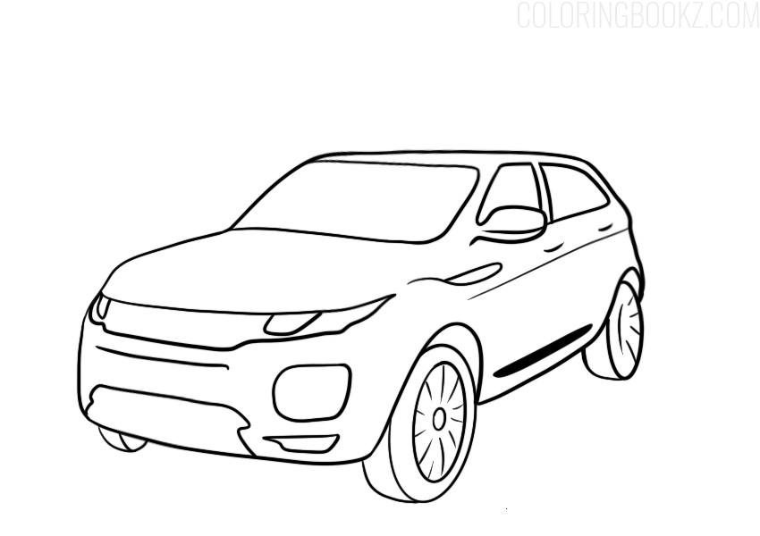 Range Rover Evoque Coloring Page 2020