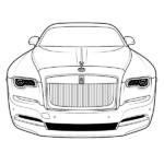Rolls Royce Coloring Page – Rolls-Royce Ghost