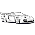 Sports Car Coloring Page – Sportscar