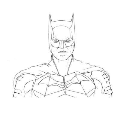 The Batman Matt Reeves Coloring Page Coloring Book Pattinson
