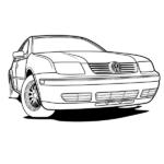 Volkswagen Jetta Coloring Page – Volkswagen Bora