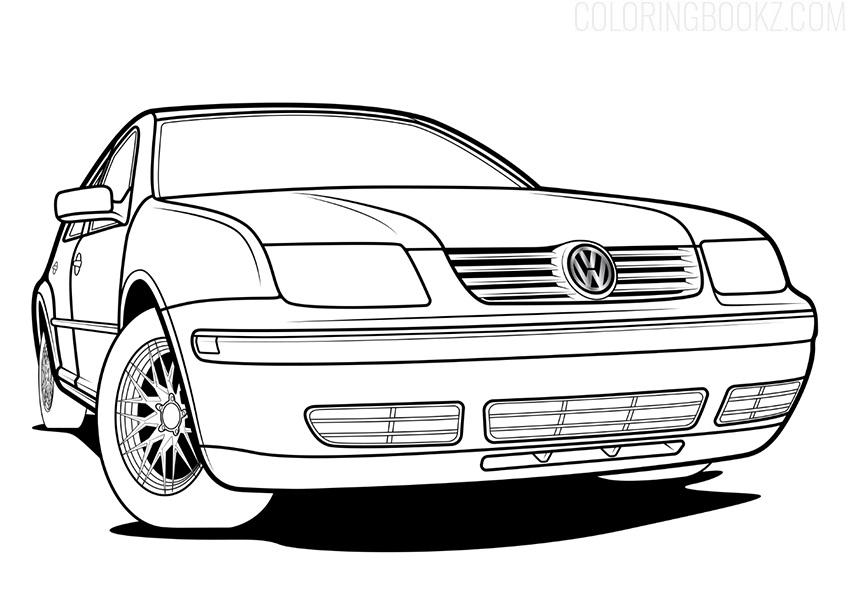 Volkswagen Jetta Coloring Page - Volkswagen Bora