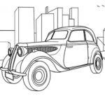 Classic Car Coloring Page – BMW 321