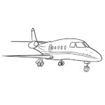 Aircraft Coloring Page – Airplane Coloring