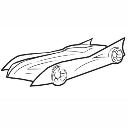 Batman Car Coloring Book