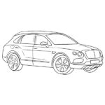 Bentley Bentayga Coloring Page