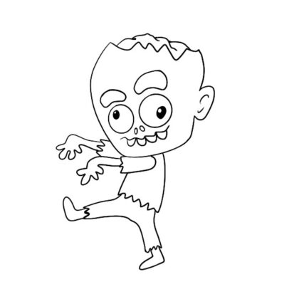 Cartoon Zombie Coloring Book