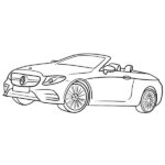 Convertible Coloring Page – Mercedes Cabriolet