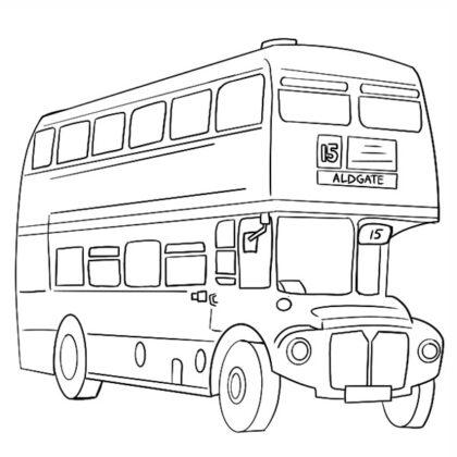 Double-decker bus Coloring Book