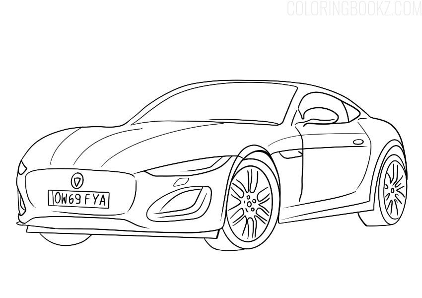 Jaguar F-Type Coloring Page