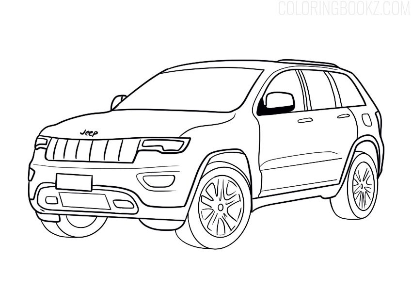 Jeep Coloring Page Coloring Books