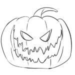 Halloween Pumpkin Coloring Page – Jack-o'-lantern