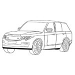 Range Rover Coloring Page