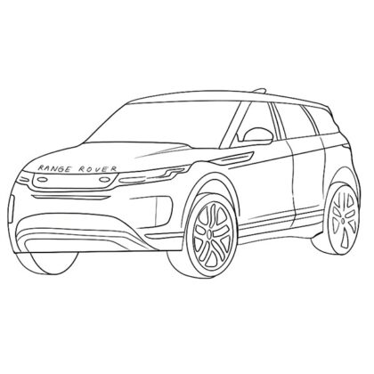 Range Rover Evoque Coloring Book
