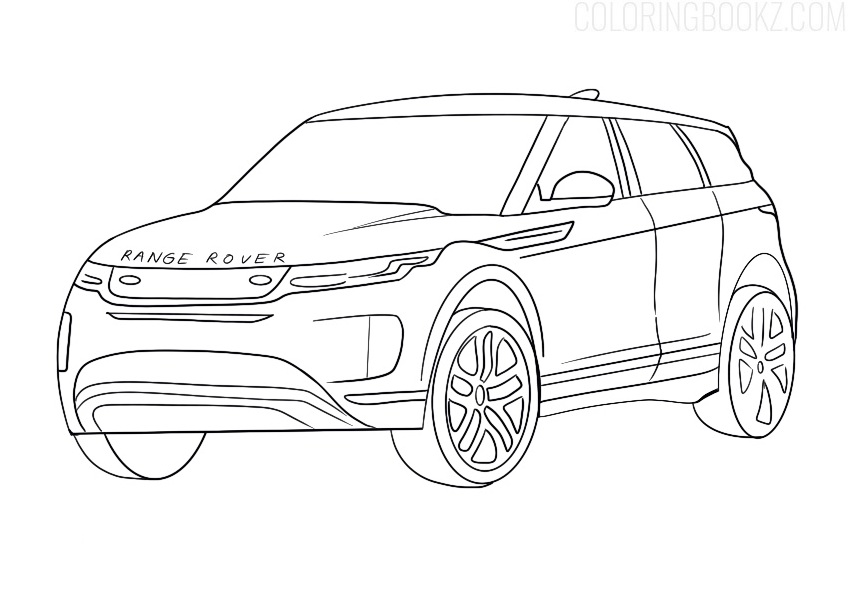 Range Rover Evoque Coloring Page