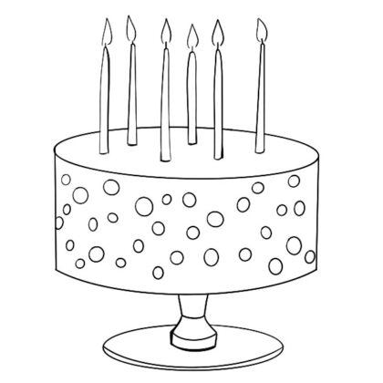 birthday cake coloring book