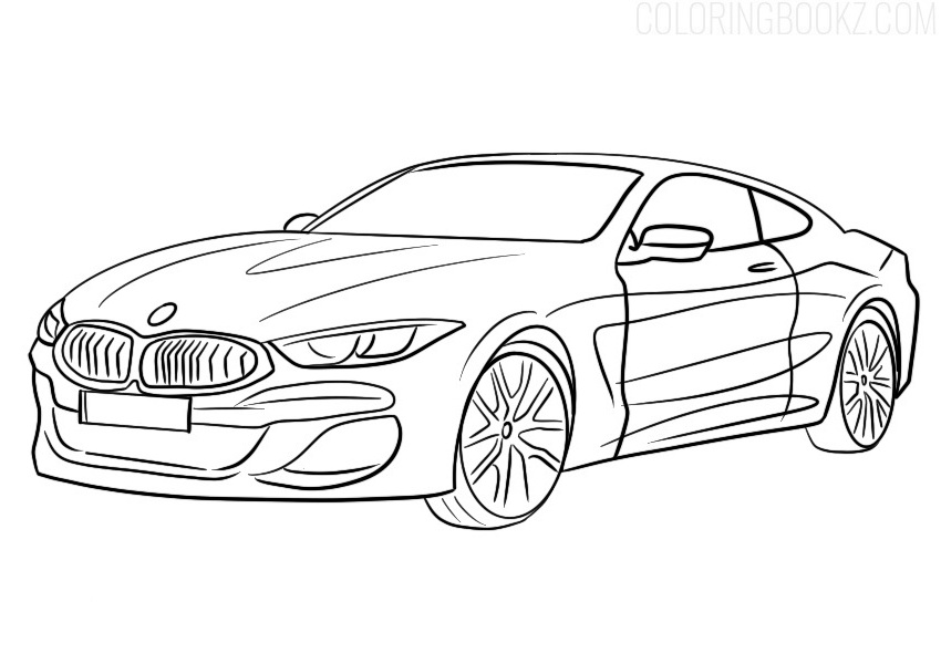 BMW 8 Series Coloring Page