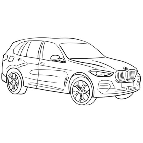 BMW X5 Coloring Book